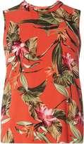 Dorothy Perkins Orange Tropical Print Top