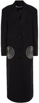 Alexander Wang Embellished Wool-twill Coat