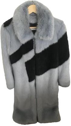 REJINA PYO Blue Faux fur Coats