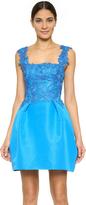 Monique Lhuillier Sleeveless Combo Dress with Full Skirt