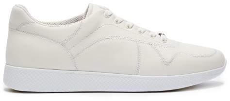 Bottega Veneta Low Top Leather Trainers - Mens - White