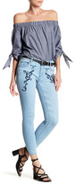 Romeo & Juliet Couture ROMEO &JULIET COUTURE Embroidered Cropped Skinny Jean