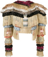 Vivienne Westwood metallic fringed cropped jacket - women - Cotton/Linen/Flax/Polyamide - M