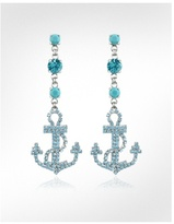 Ileana Creations Anchor Swarovski Crystal and Turquoise Drop Earrings