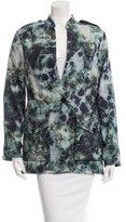 Raquel Allegra Tie-Dye Single-Button Blazer w/ Tags