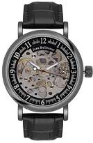 Jean Bellecour Jean redh4 Bellecour – Millenium Analog – Watch Men – Automatic – black dial – Black Leather Strap