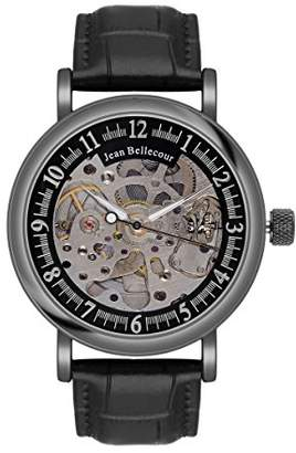 Jean Bellecour Men's Analogue Classic Quartz Watch with Stainless Steel Strap REDH4