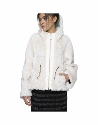 ELISA CAVALETTI by DANIELA DALLAVALLE ELW208001907 Ambrosia Hooded Jacket - Off-White - XS