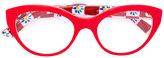 Dolce & Gabbana Mambo print glasses - women - Acetate - 51