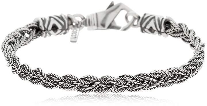 Emanuele Bicocchi Tiny Fishtail Braid Silver Bracelet