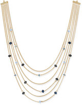 Charter Club Gold-Tone 6-Row Beaded Station Necklace, Only at Macy's