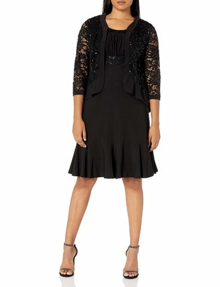 R & M Richards R&M Richards Women's 2 Piece lace Jacket Dress