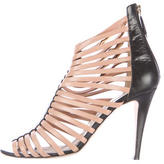 Brian Atwood Leather Multi-Strap Sandals