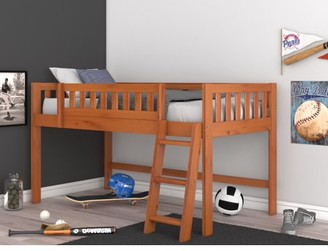 Os Home & Office Furniture OS Home and Office Model 82104-1 Honey Twin Low Loft Bed