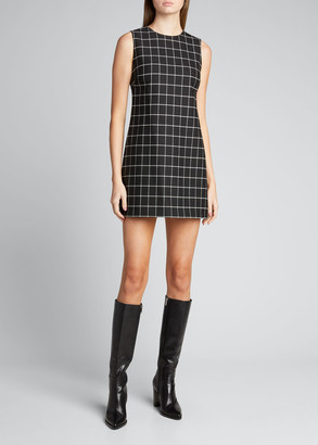 Alice + Olivia Coley Crewneck A-Line Dress