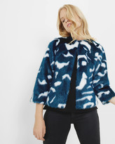 Ted Baker Marble faux fur jacket