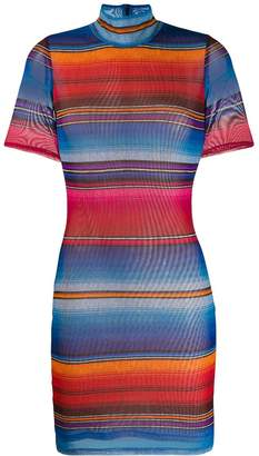 House of Holland striped fitted mini dress
