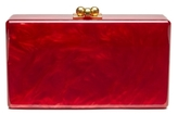 Edie Parker Jean Red Pearlescent Clutch
