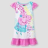 Peppa Pig Toddler Girls' Chasing Rainbows Nightgown - Pink