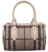 Burberry Leather-Trimmed Smoked Check Bag