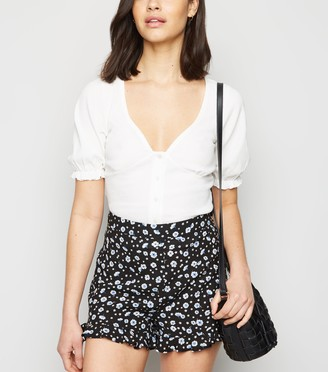 New Look Floral Ruffle Shorts