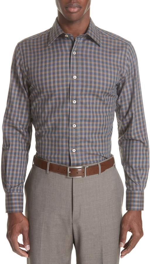 Canali Regular Fit Check Sport Shirt