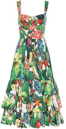 Dolce & Gabbana Exclusive to Mytheresa Printed cotton-poplin maxi dress
