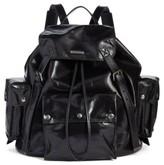 Saint Laurent Noe Polished Vintage Leather Backpack - Black
