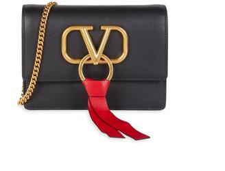 Valentino Logo Leather Crossbody Bag