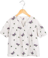 Bonpoint Girls' Floral Print Short Sleeve Top