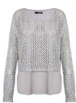 Quiz Grey Knit Sequin Jumper