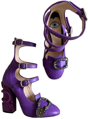 Gucci Queercore Purple Leather Heels