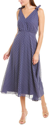 Betsey Johnson Clip Dot Maxi Dress