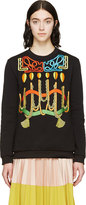 Peter Pilotto Black Robe Embroideries Sweatshirt