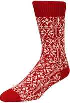Oliver Spencer Socks Fairisle OSA417 Red/Omeal