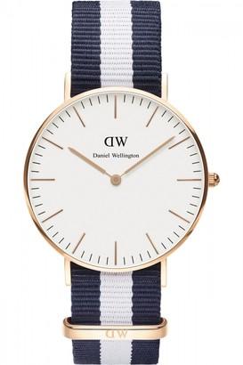 Daniel Wellington Ladies Glasgow Rose 36mm Watch DW00100031