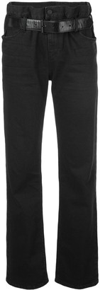 RtA Belted Straight-Leg Jeans