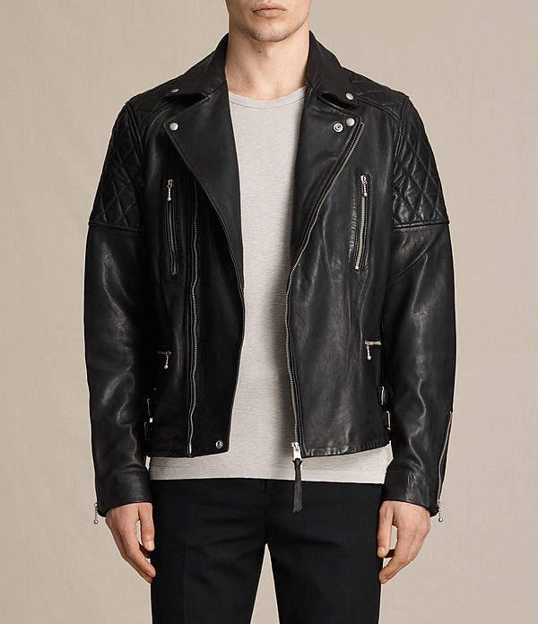 AllSaints Yuku Leather Biker Jacket