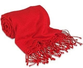 Forzieri Red Pashmina & Silk Shawl