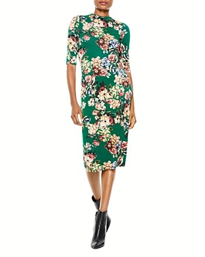 Alice + Olivia Delora Fitted Mock Neck Dress