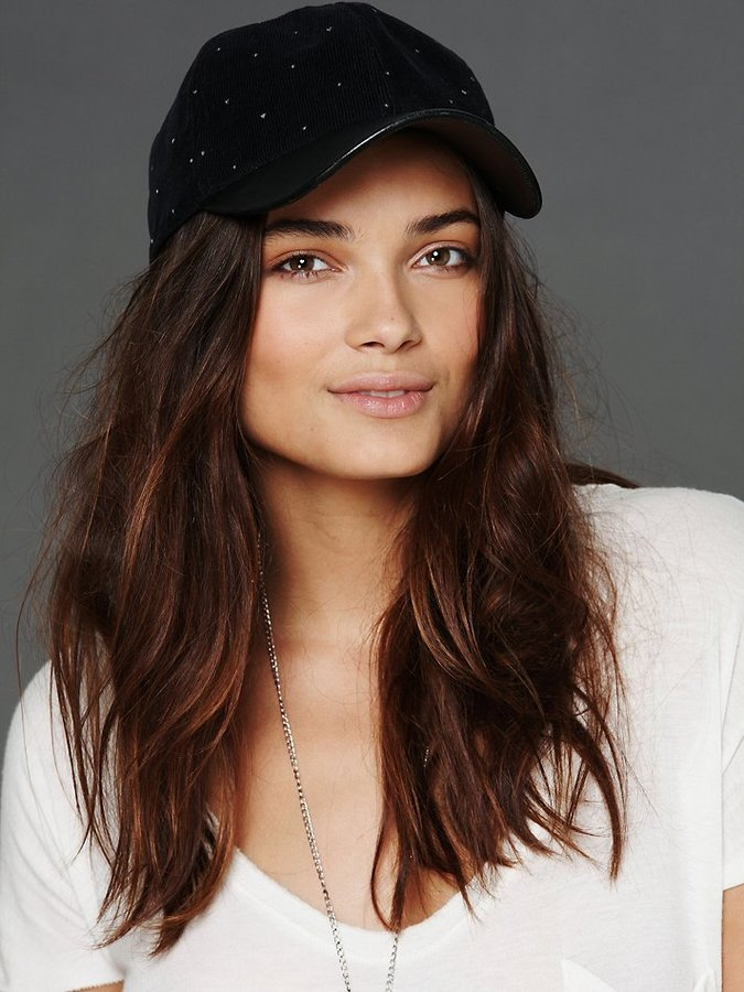Free People Lonely Hearts Leather Brimmed Hat