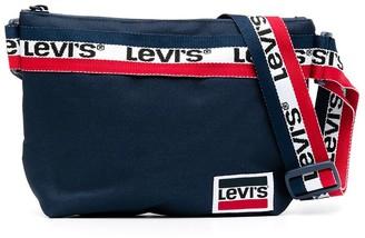 Levi's Striped Logo-Tape Crossbody Bag