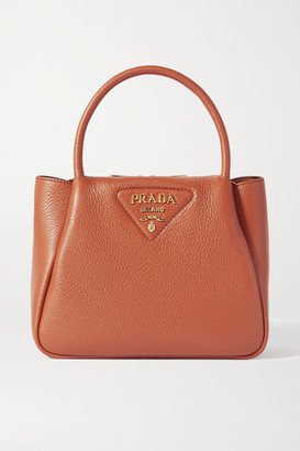 Prada Small Textured-leather Tote - Brown