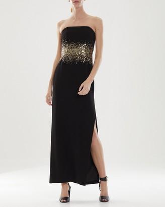 Halston Sofi Beaded Gown