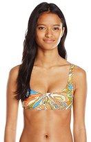 Volcom Women's Faded Flowers Crop Bikini Top