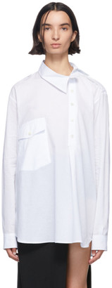 Ann Demeulemeester White Misplaced Button Down Shirt