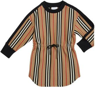 Burberry Girl's Arielle Icon Stripe Tie Waist Dress, Size 3-14