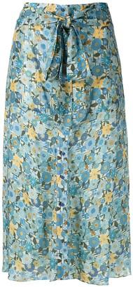 Clube Bossa Fresse printed midi skirt