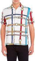 Love Moschino Short Sleeve Buckle Print Shirt