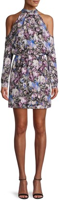 Parker Floral Off-The-Shoulder Silk Mini Dress